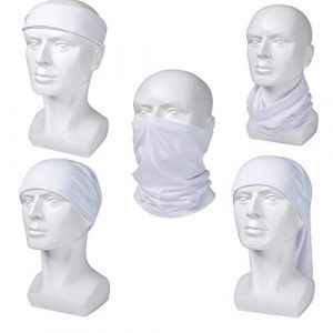 Coohole Neck Gaiter Head Scarf Face Mask Windproof Dustproof UV Protection CS Ghost Reflective Headgear for Summer Outdoor Running Hiking Cycling Fishing